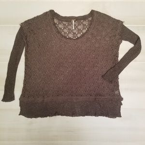 {S} Free People With A Kiss Yarn Boxy Sweater
